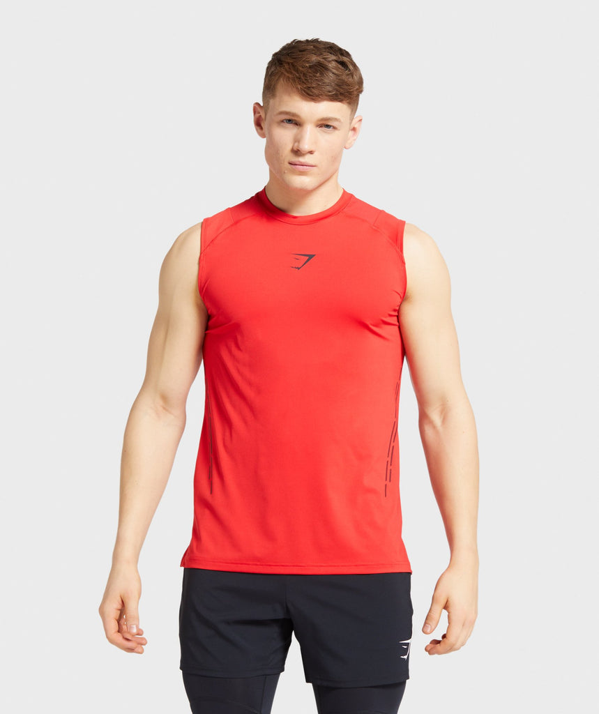Gymshark Element Hiit Tank - Red 1