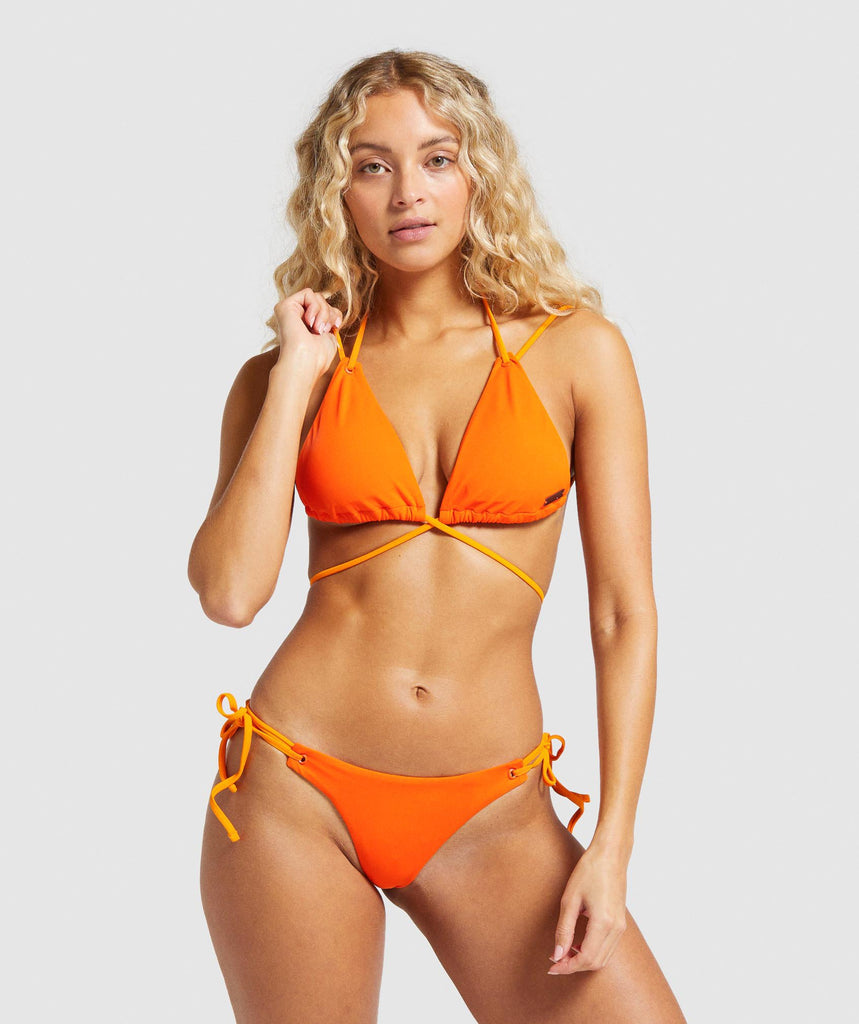 Gymshark Horizon Lifestyle Bikini Top - Orange 1