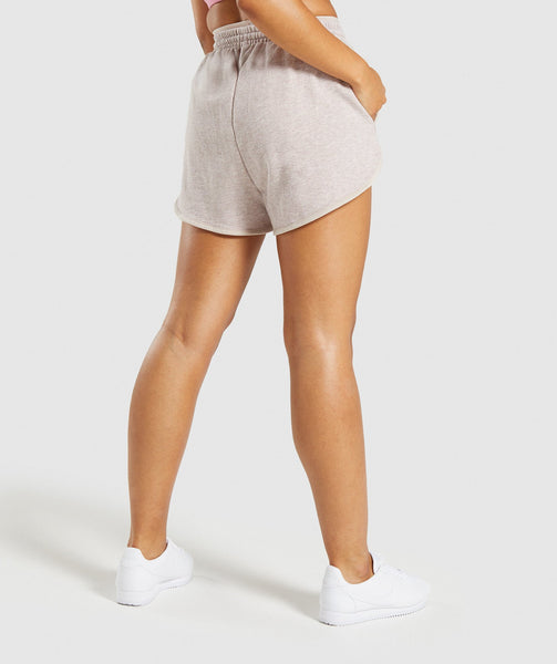 Gymshark Heather Dual Band Shorts - Blush Nude Marl 1
