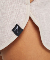 Gymshark Heather Dual Band Shorts - Blush Nude Marl 12