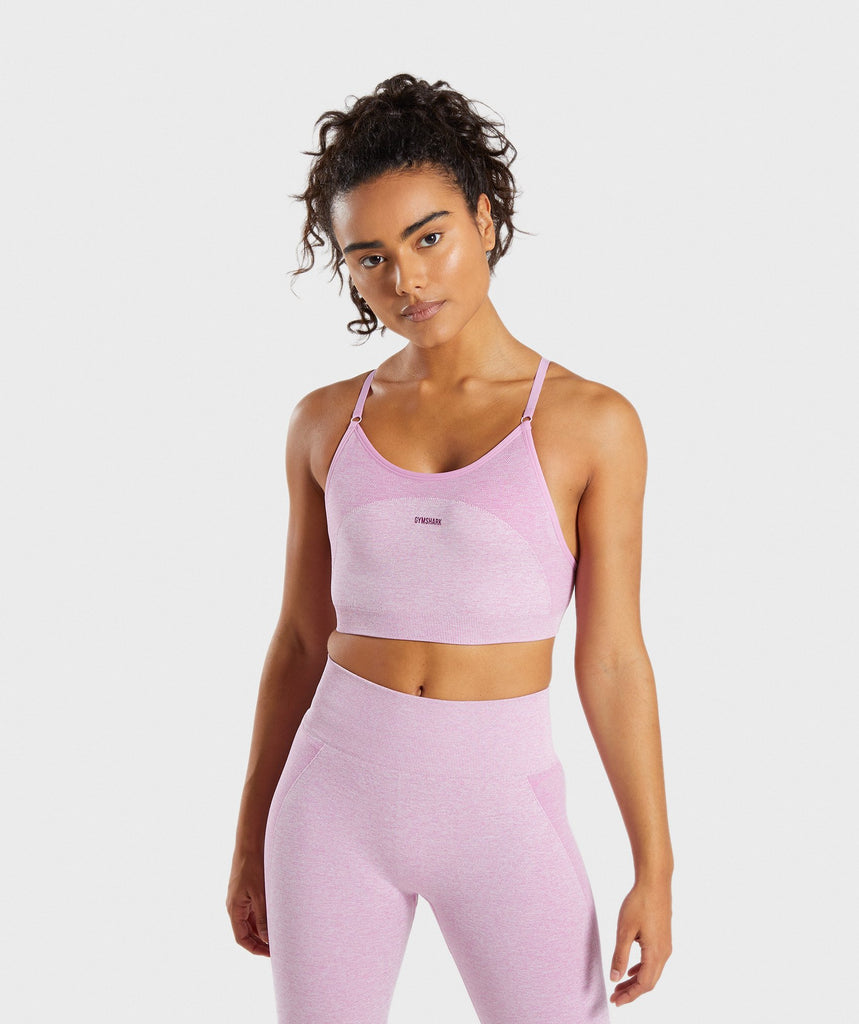 Gymshark Flex Strappy Sports Bra - Pink 1