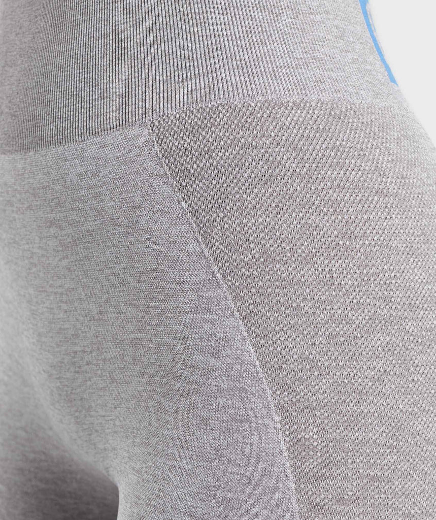 Gymshark Flex High Waisted Leggings - Light Grey/Blue 6