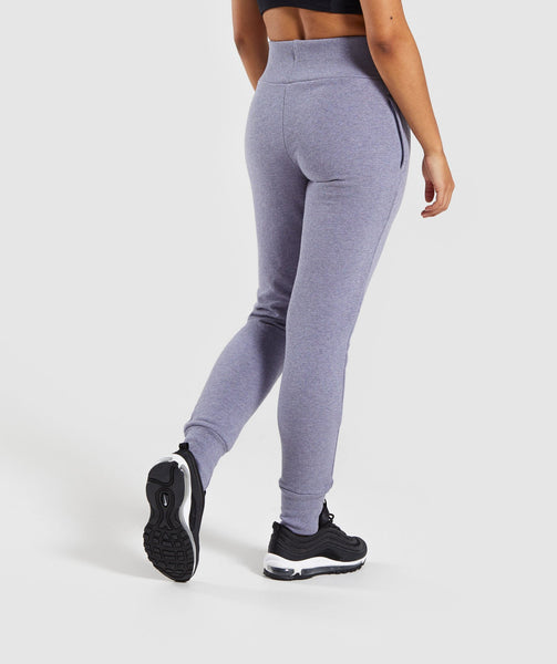 Gymshark High Waisted Joggers - Steel Blue 1