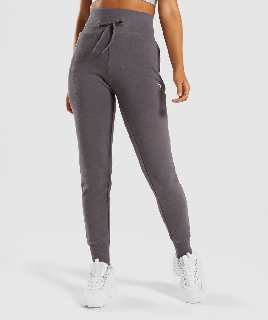 bfff189e7a4d Gymshark High Waisted Joggers - Slate Lavender Marl 1