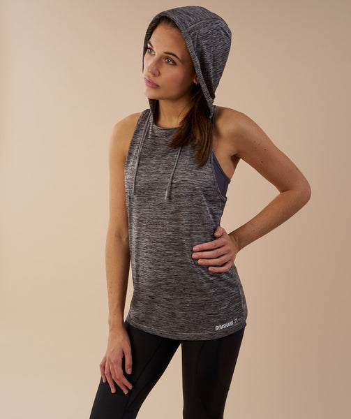 Gymshark Hooded Vest - Charcoal Marl 4