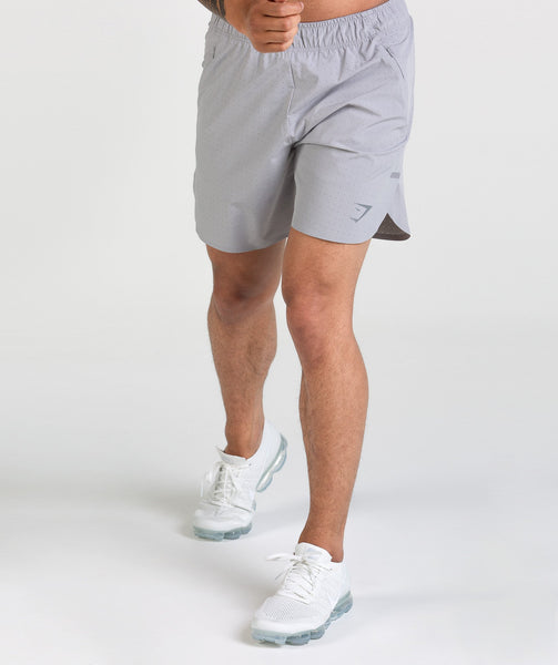 Gymshark Perforated Shorts - Light Grey 4