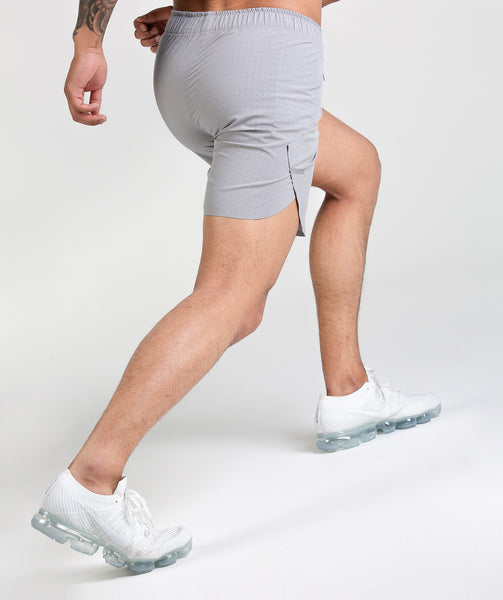 Gymshark Perforated Shorts - Light Grey 3