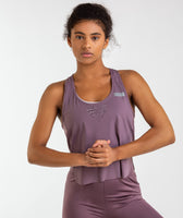 Gymshark T-Bar Cropped Vest 2.0 - Purple Wash 9