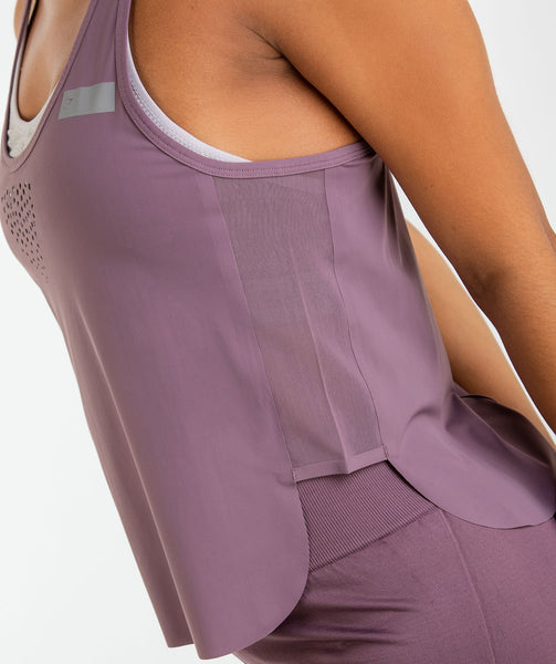 Gymshark T-Bar Cropped Vest 2.0 - Purple Wash 4