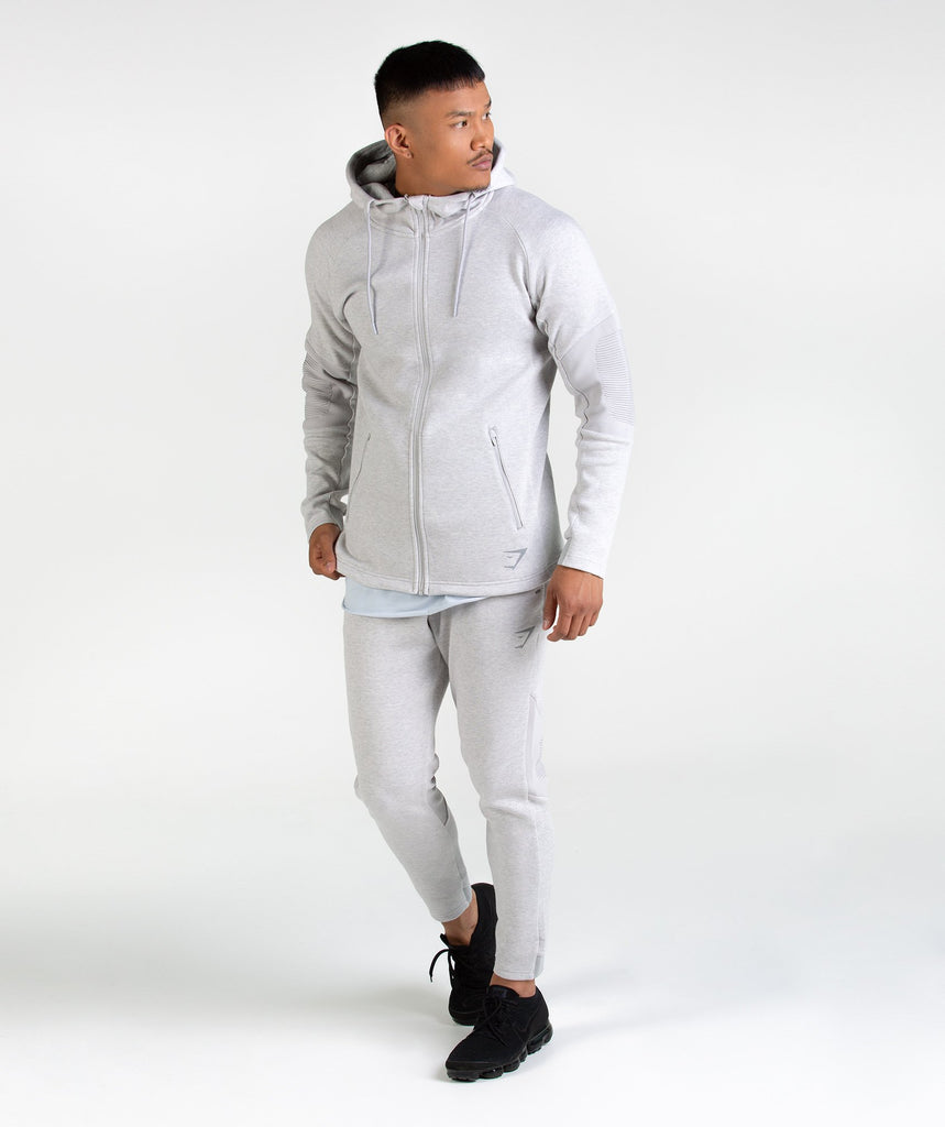 Gymshark Ozone Bottoms - Light Grey Marl 6