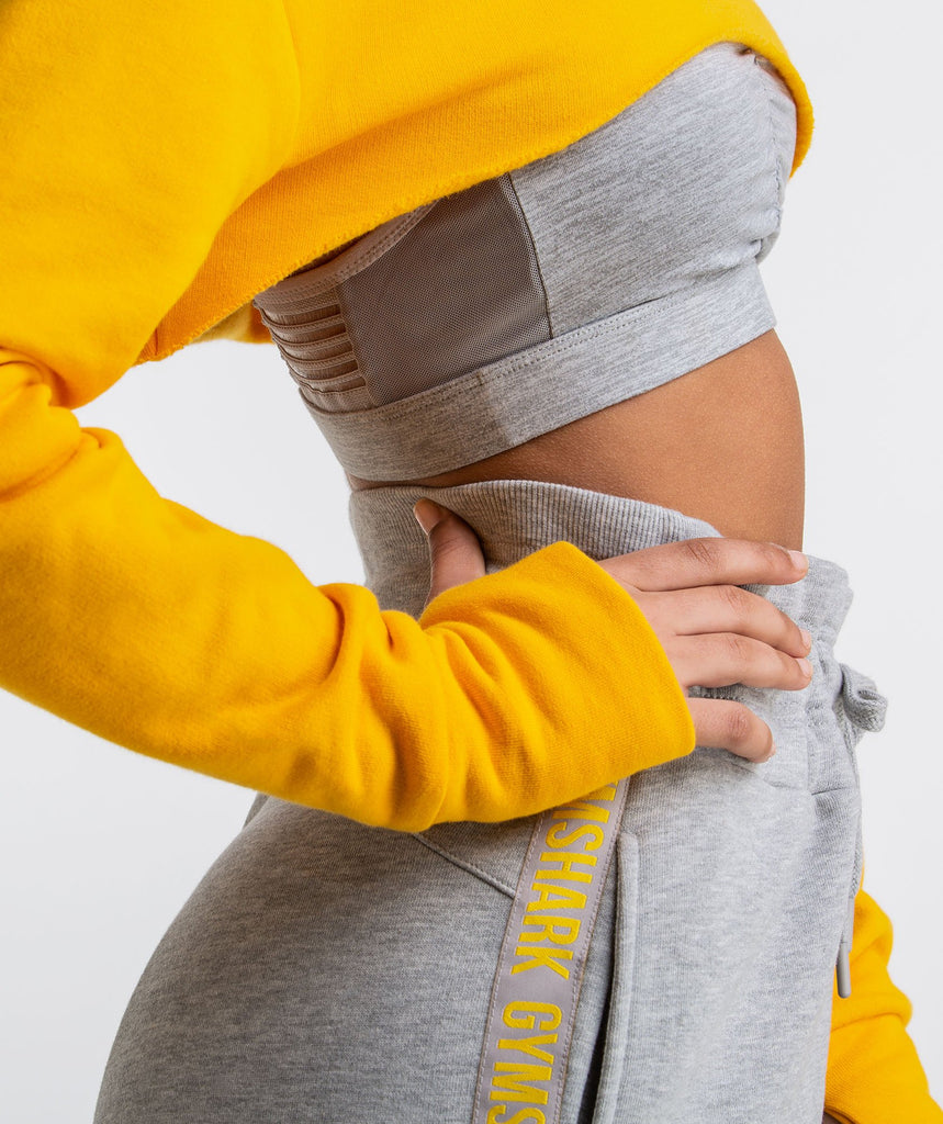 Gymshark Super Cropped Sweater - Citrus Yellow 5