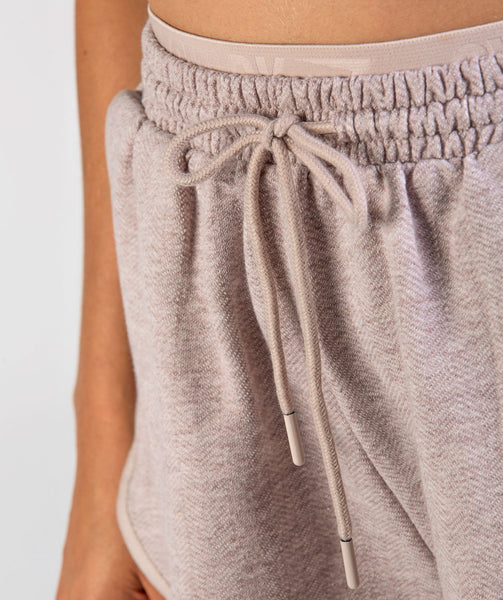 Gymshark Heather Dual Band Shorts - Taupe Marl 4