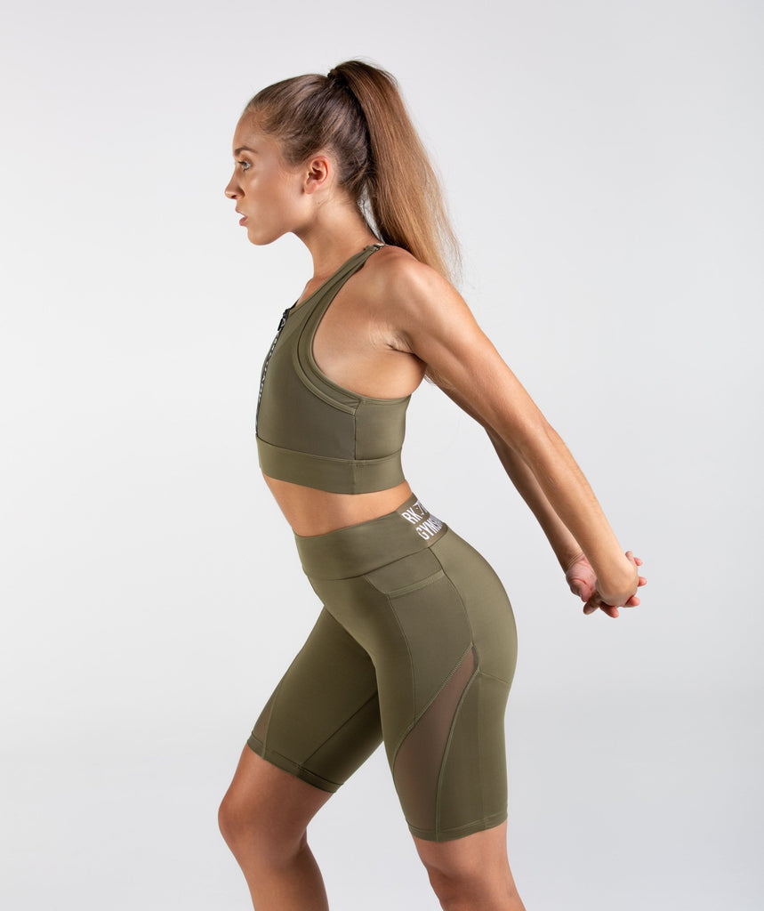 Gymshark Elevate Sports Bra - Khaki 4