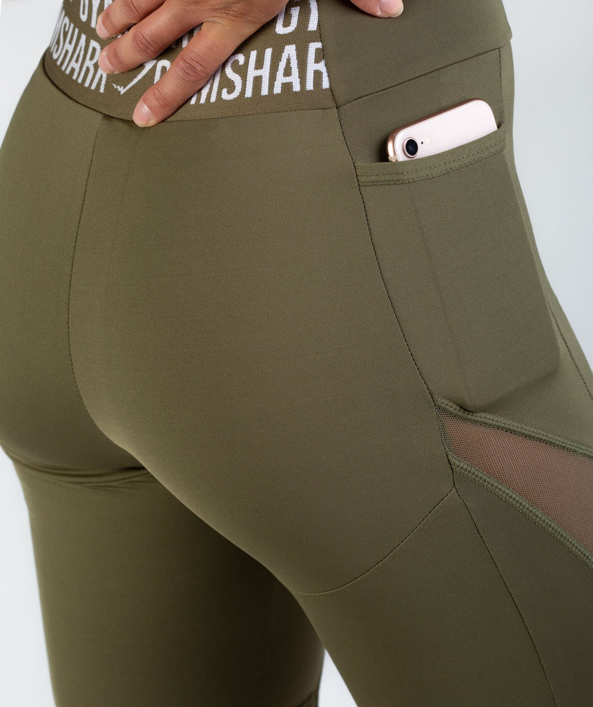 Gymshark Elevate Cycling Shorts - Khaki 5