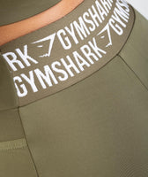 Gymshark Elevate Cycling Shorts - Khaki 12