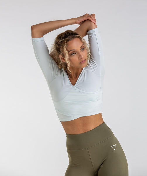 Gymshark Ballet Crop Top - Sea Foam Green 4