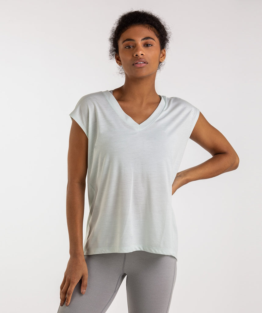 Gymshark Pleat Back Tee - Sea Foam Green 2