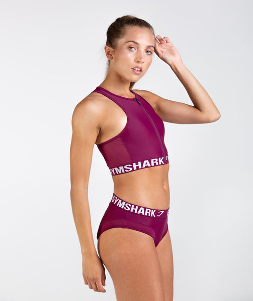 Gymshark Charge Sports Bikini Top - Deep Plum 4
