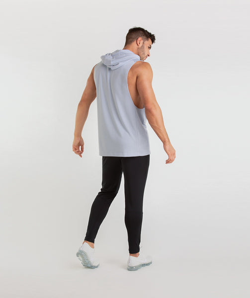 Gymshark Drop Arm Sleeveless Hoodie - Clear Water 3