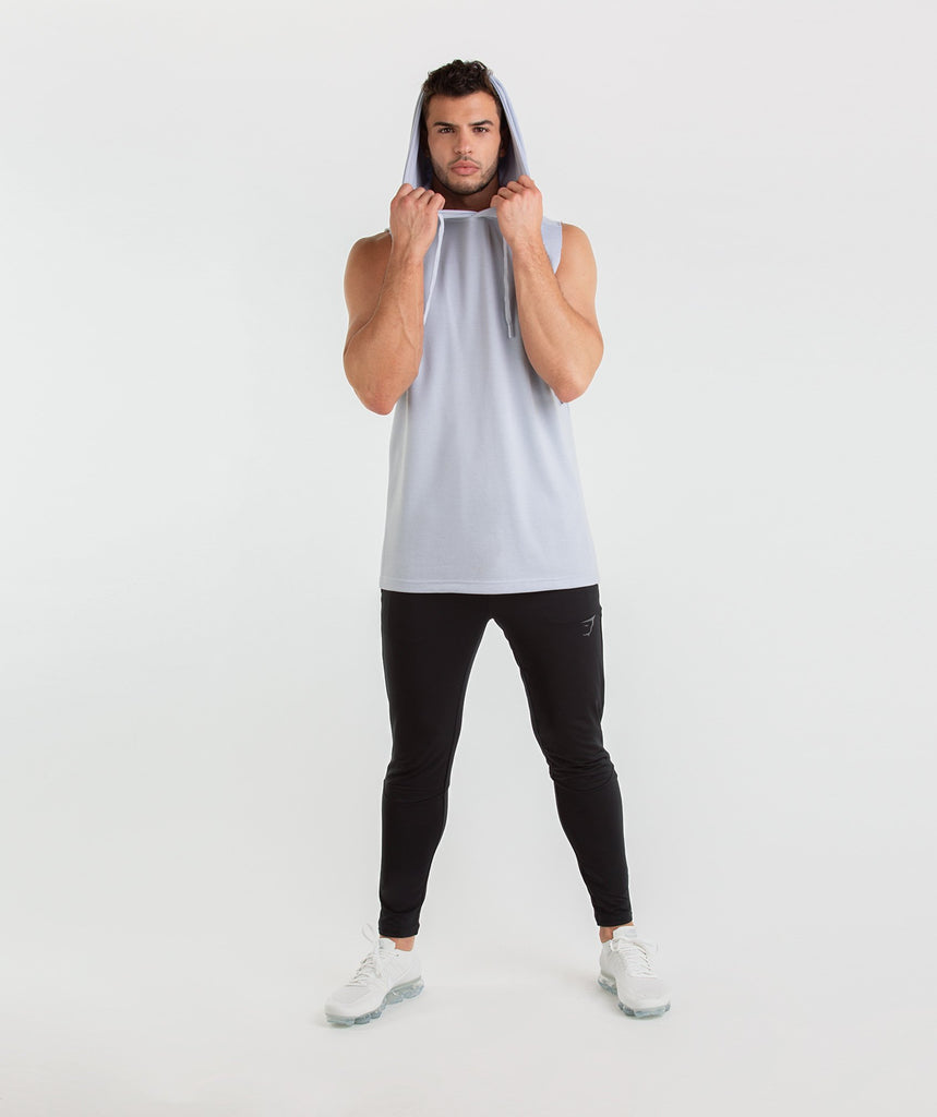 Gymshark Drop Arm Sleeveless Hoodie - Clear Water 5