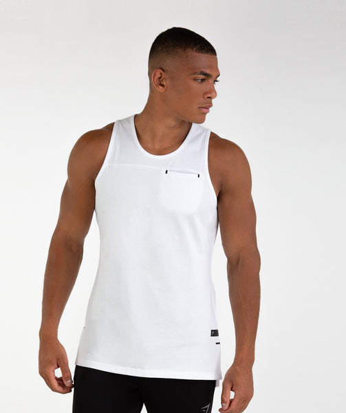 Gymshark City Tank - White 4
