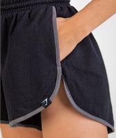 Gymshark Heather Dual Band Shorts - Black 11