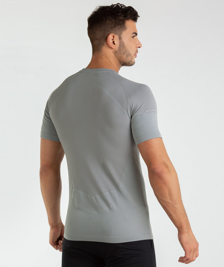 Gymshark Onyx Imperial T-Shirt - Light Grey 1