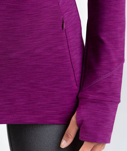 Gymshark Limit 1/2 Zip Pullover - Deep Plum Marl 4