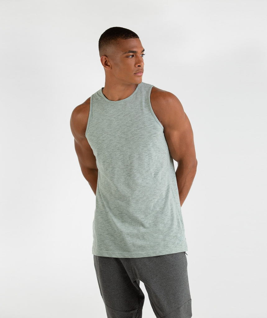 Gymshark Heather Tank - Autumn Green Marl 2