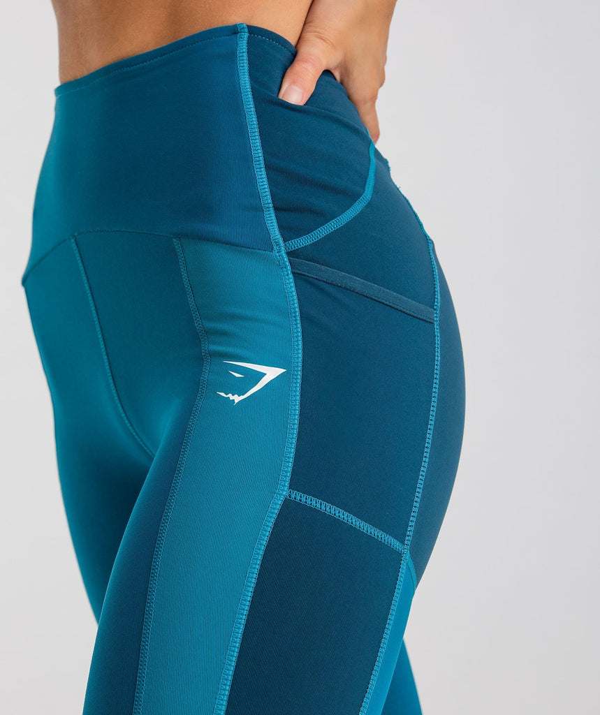 Gymshark Tonal Block Leggings - Deep Teal 5
