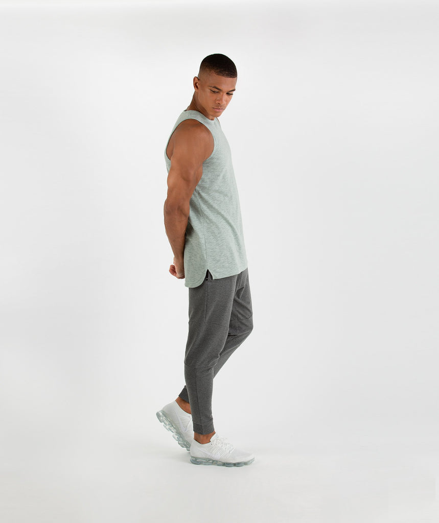 Gymshark Heather Tank - Autumn Green Marl 5