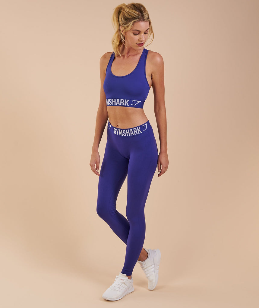 Gymshark Fit Leggings - Indigo/White