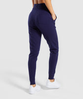Gymshark Isla Knit Jogger - Evening Navy Blue 8