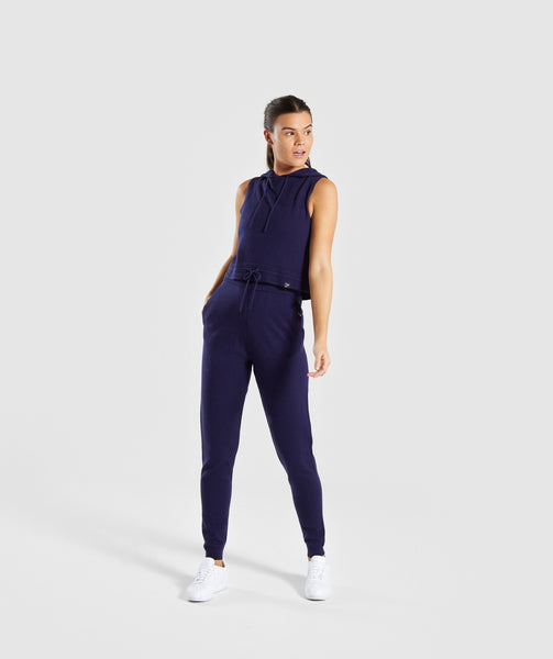 Gymshark Isla Knit Jogger - Evening Navy Blue 3