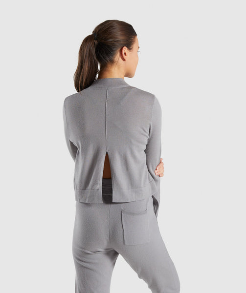 Gymshark Isla Knit Sweater - Light Grey 1