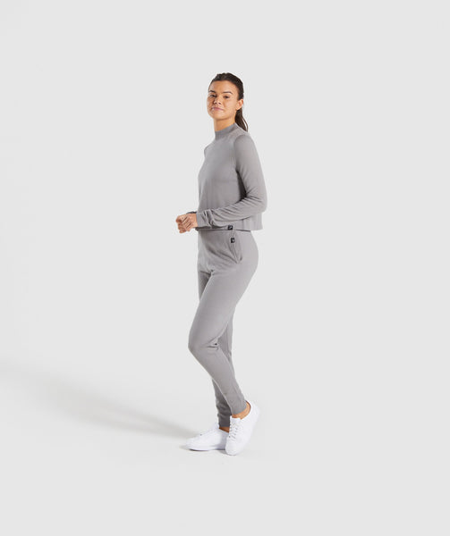 Gymshark Isla Knit Sweater - Light Grey 4
