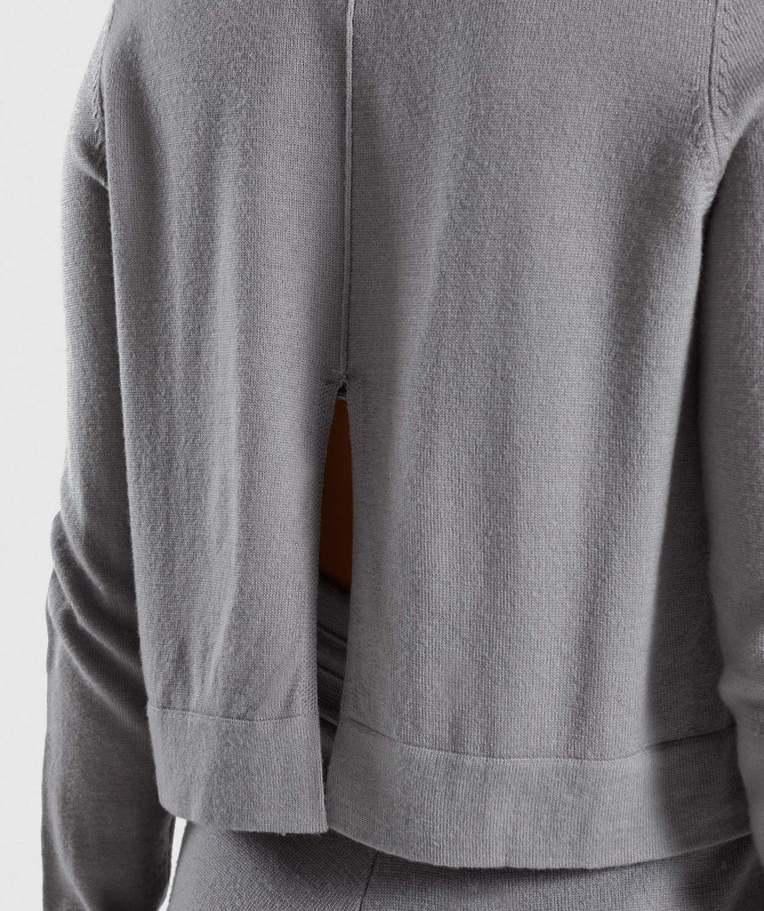 Gymshark Isla Knit Sweater - Light Grey 5