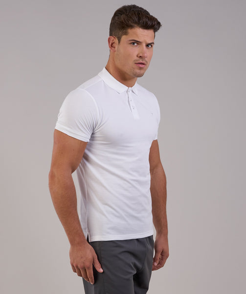 Gymshark Ace Polo - White 4