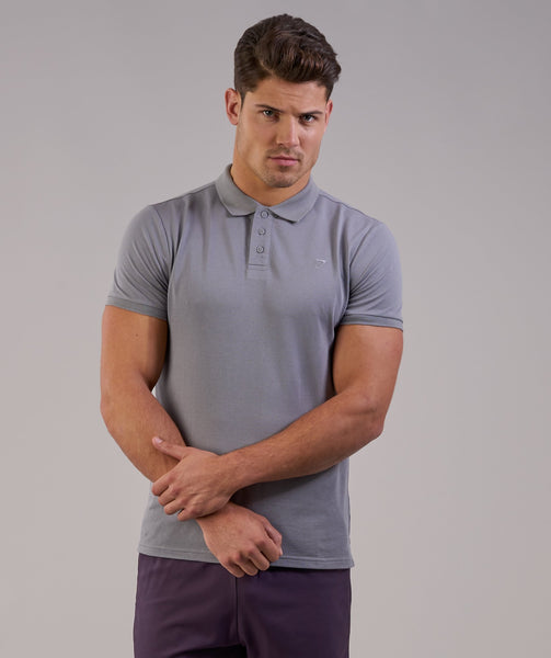 Gymshark Ace Polo - Light Grey 4