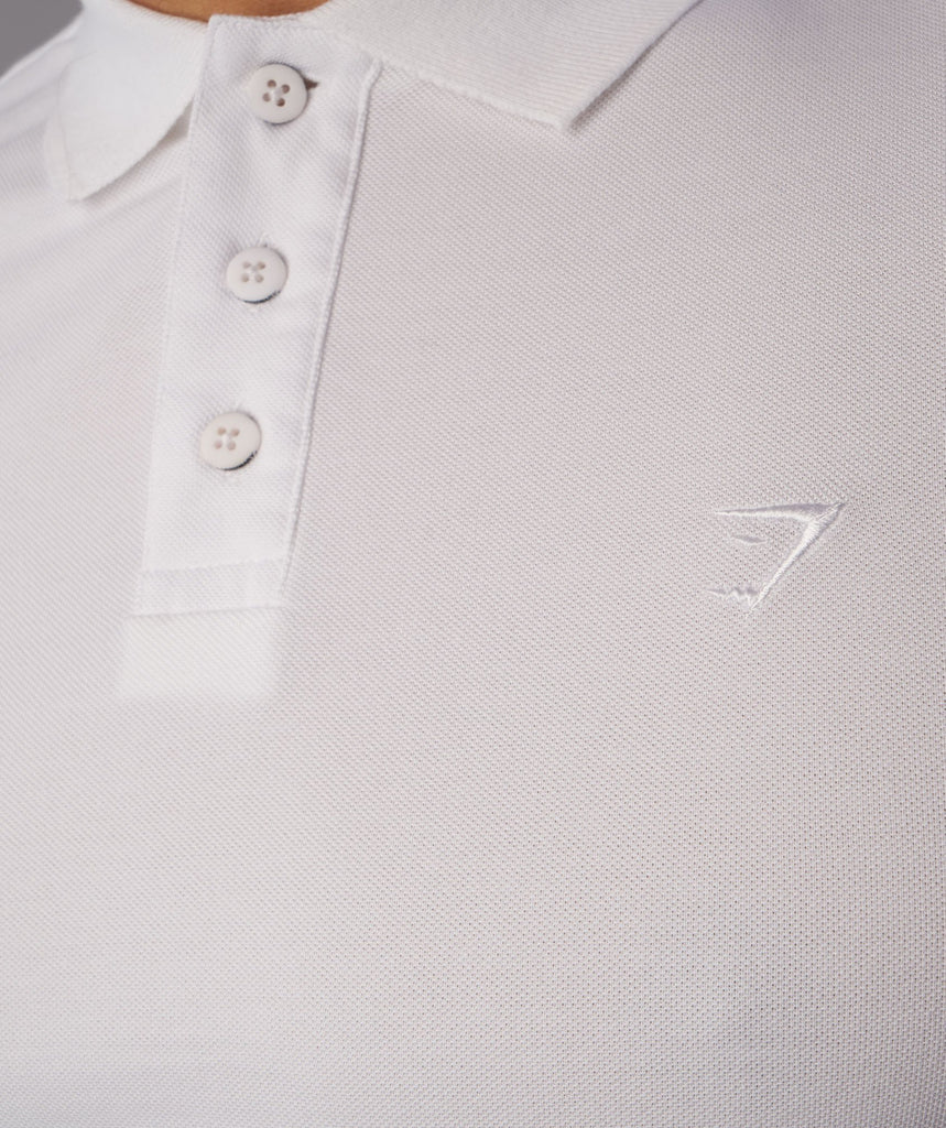 Gymshark Ace Polo - White 6