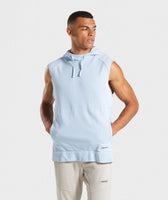Gymshark Laundered Sleeveless Hoodie - Light Blue 7