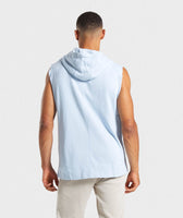 Gymshark Laundered Sleeveless Hoodie - Light Blue 8