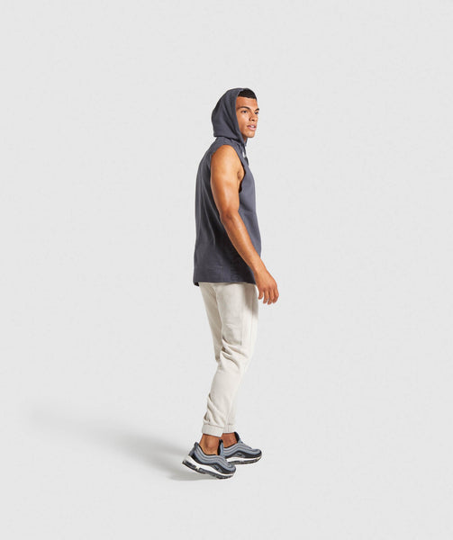 Gymshark Laundered Sleeveless Hoodie - Charcoal 3