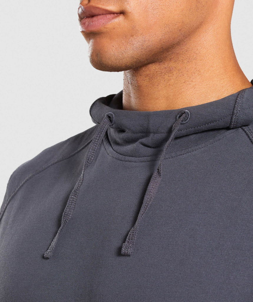 Gymshark Laundered Sleeveless Hoodie - Charcoal 6