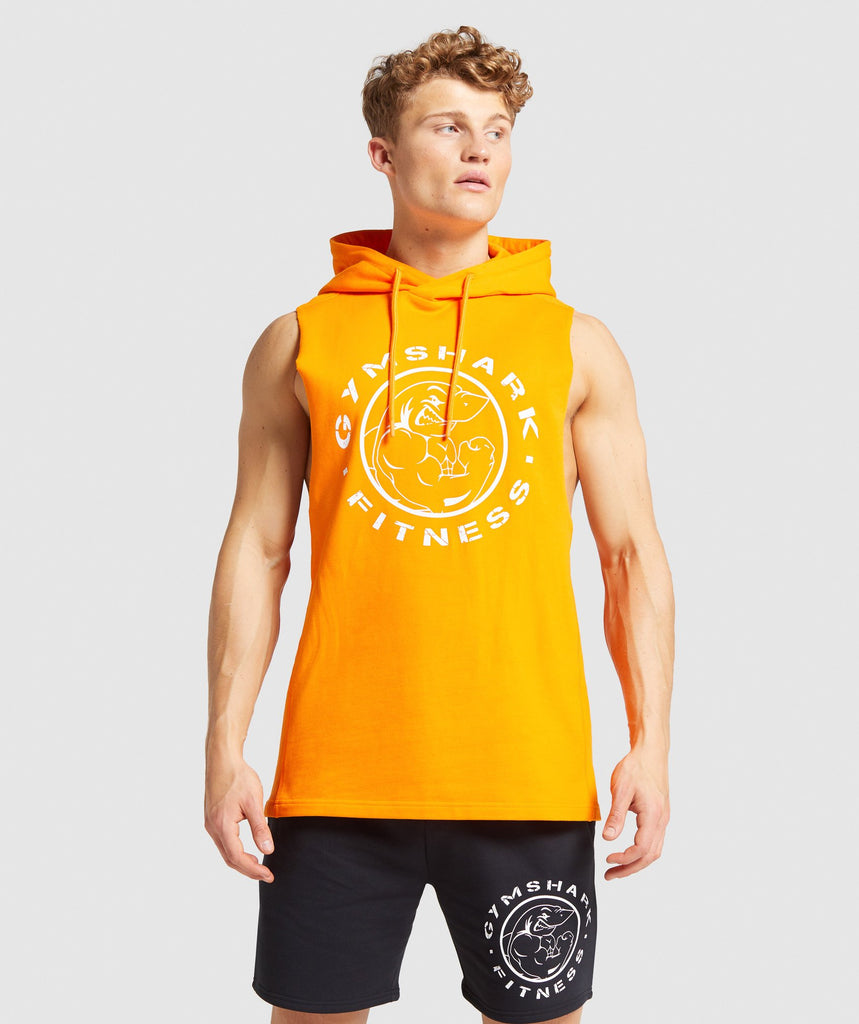 Gymshark Legacy Drop Armhole Hoodie - Orange 1
