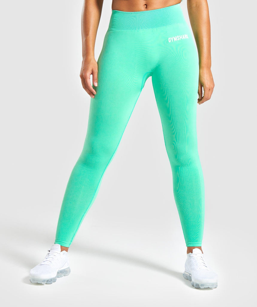 Gymshark Breeze Lightweight Seamless Tights - Light Green 1