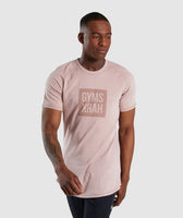 Gymshark Laundered Square Logo T-Shirt - Pink 7