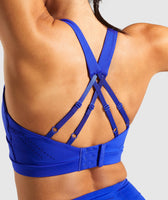 Gymshark Laser Cut Sports Bra - Blue 11