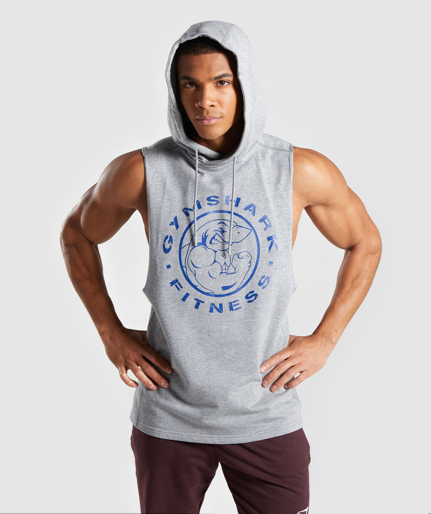025d828ded22e5 Gymshark Legacy Drop Armhole Hoodie - Grey 1