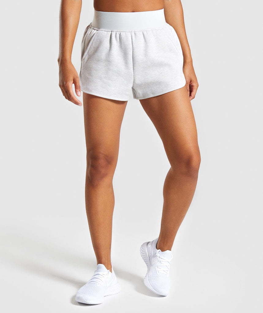 Gymshark Legacy Fitness Shorts - Light Grey 1